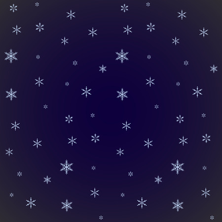 christams: Christmas snowflakes background. Falling snowflakes on snow. Blue background with snowflakes. Vector illustration.
