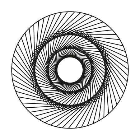 complex: A complex pattern of circles. Geometric circular pattern. Black and white concentric circles. Illustration