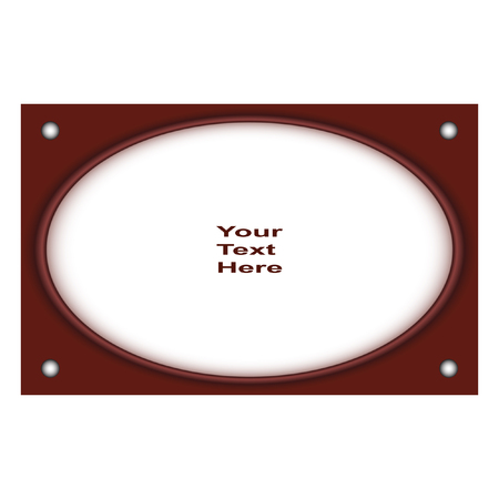 white backing: Round vector frame. Interesting frame with a white backing for photos or text. The vector image.