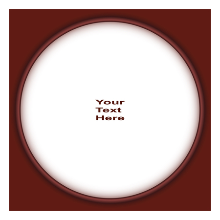 Round Vector Frame. Interesting Frame With A White Backing For ...