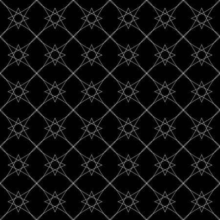 contrasting: Monochrome elegant seamless pattern in black and white. Vector seamless geometric pattern in a contrasting black and white tones. Monochrome ornamental pattern for background.