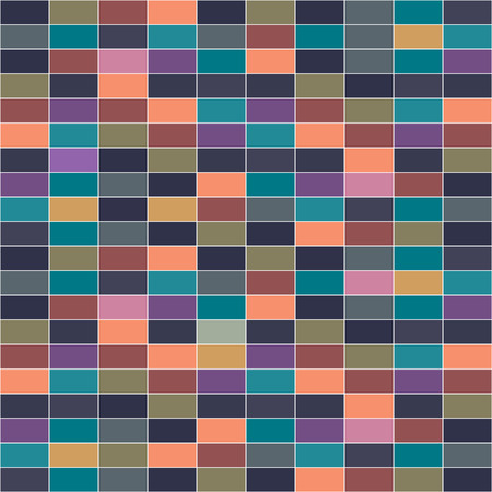 checkerboard backdrop: Seamless geometric pattern Seamless colorful brick wall background