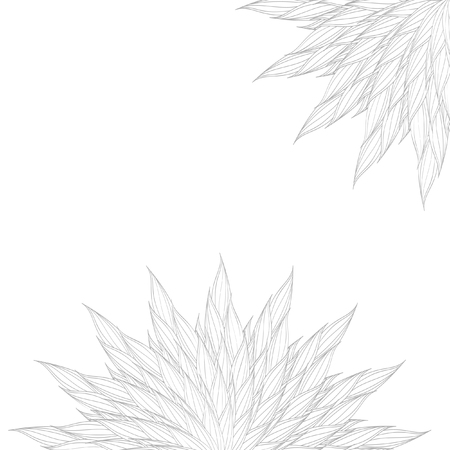 Vector circular pattern of interwoven leaves. The plaiting of the leaves, ears of corn.
