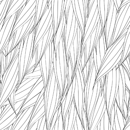 nature pattern: Seamless vector pattern of interwoven leaves. The plaiting of the leaves, ears of corn.