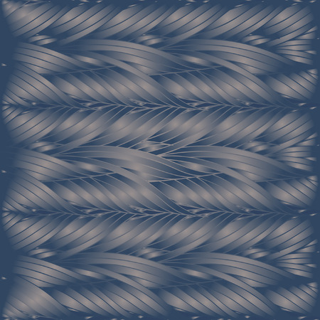 Seamless vector pattern of interwoven leaves. The plaiting of the leaves, ears of corn.