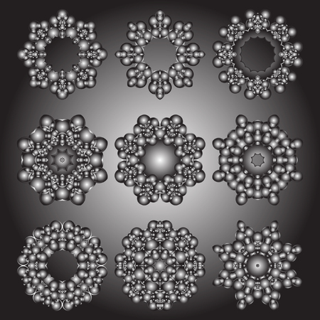 rotund: Abstract vector gradient round pattern. The futuristic three-dimensional circular pattern.