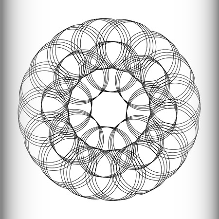 circles: Lacy pattern of intersecting circles. Illustration
