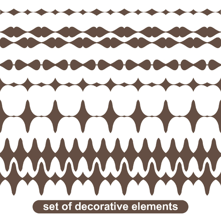 blanks: Vector blanks for frames, graphic design elements - page divider line set. Vector art brushes. Pattern border pack. Illustration