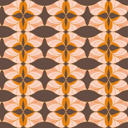 fulvous: A complex vector seamless floral pattern. To decorate paper, fabric and wallpaper.