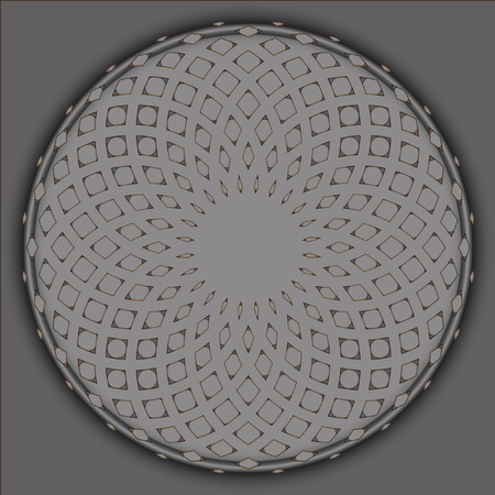 Lacy pattern of intersecting circles. Illustration