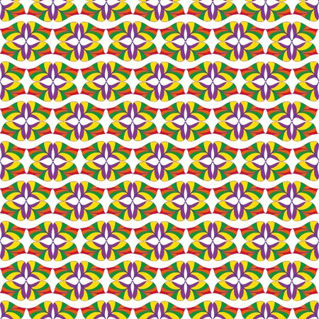 lurid: A complex vector seamless floral pattern.