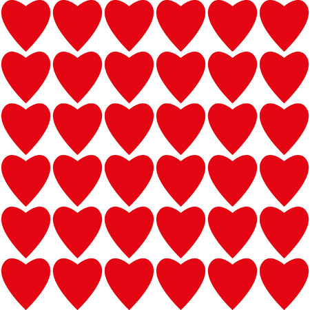 february 14: For Valentines Day February 14 - Valentines heart. Vector seamless pattern for decoration postcards, congratulations, declarations of love, invitations for visits.