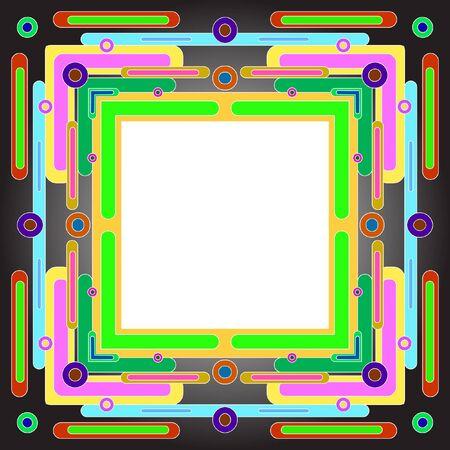 openwork: Ornate frame vector. Openwork stylish vector frame for decoration of your works. Vector vintage border frame Illustration