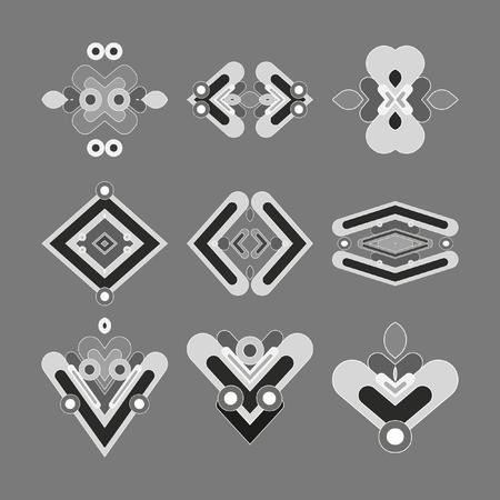 logo vector: Graphic elements for modeling your logo. Vector. Illustration