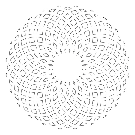 Abstract vector gradient drawing. Something soft and volume. Vector circular pattern.