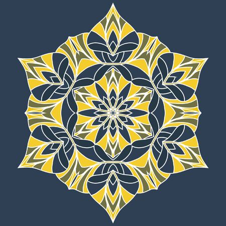 decorative items: Decorative items to decorate your work. Vector design elements. Vector graphic elements for design. Geometric fashion pattern. Vector mandala. The circular pattern.