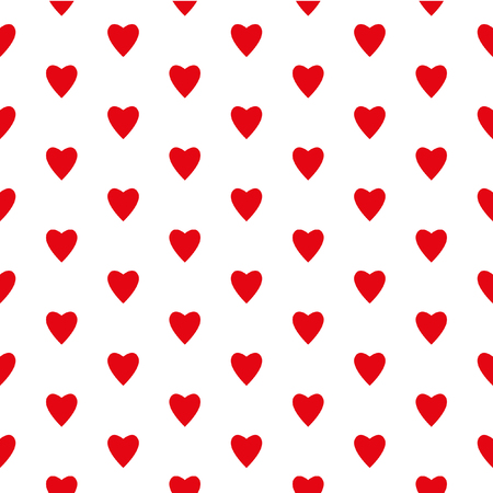 love declarations: For Valentines Day February 14 - Valentines heart. Vector seamless pattern for decoration postcards, congratulations, declarations of love, invitations for visits.