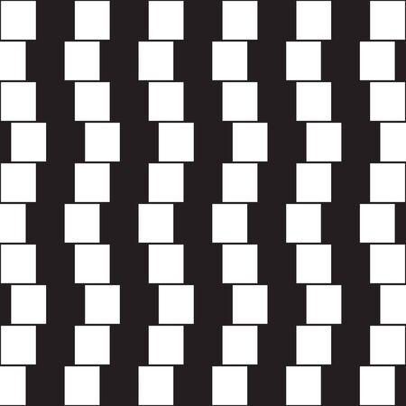 目の錯覚 - 黒と白の枕から作られた平行線