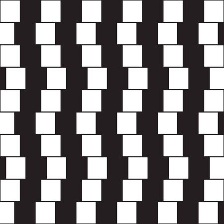 illusion: Optical illusion - parallel lines made from black and white pillows