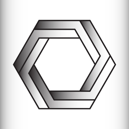 trickery: Optical illusion of the gradient vector, abstract geometric design element. Illustration