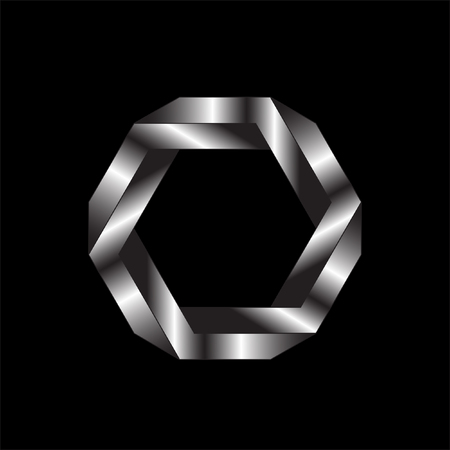 illusion: Optical illusion of the gradient vector, abstract geometric design element. Illustration