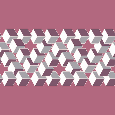 sensory perception: Optical illusion of the gradient vector, abstract geometric design element. Printoptical illusion symbols, Impossible sign