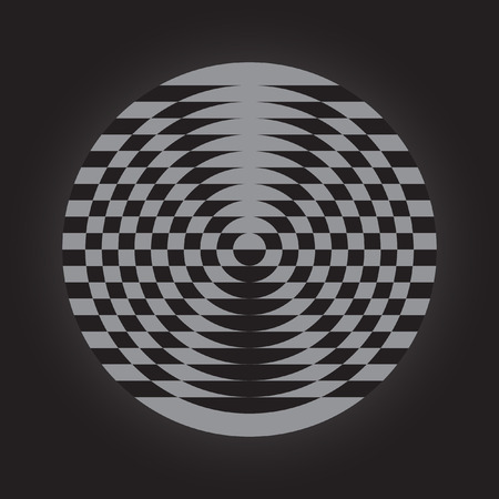 trickery: Optical illusion, abstract geometric design element. Printoptical illusion symbols, Impossible sign, vector