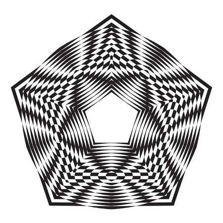 decorative items: Decorative items to decorate your work. Vector design elements. Vector graphic elements for design. Geometric fashion black-white pattern. Black and white optical illusion