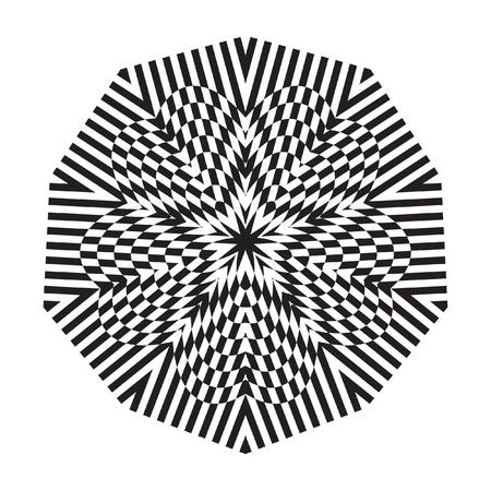 decorative items: Decorative items to decorate your work. Vector design elements. Vector graphic elements for design. Geometric fashion black-white pattern.
