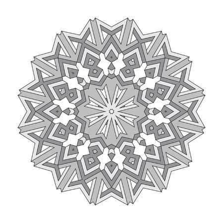 decorative items: Decorative items to decorate your work. Vector design elements. Vector graphic black-white elements for design. Geometric fashion pattern.  The circular pattern. Illustration