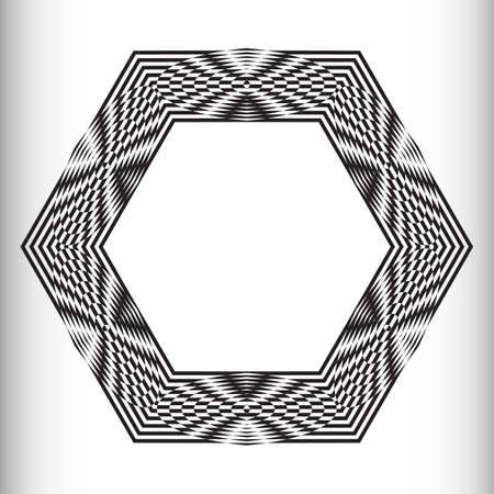 decorative items: Decorative items to decorate your work. Vector design elements. Vector graphic elements for design. Geometric fashion pattern.  Vector round pattern. Black and white optical illusion