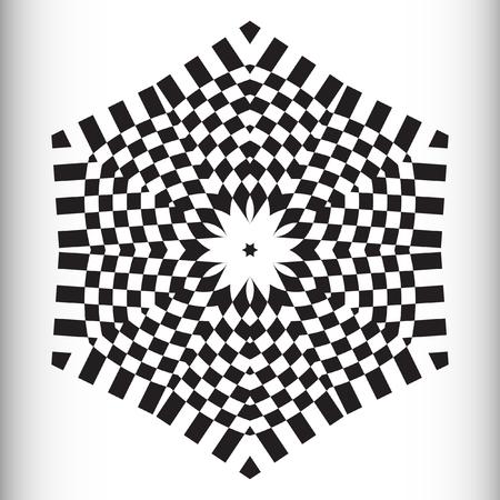 metaphorical: Mandala, circular pattern. A round pattern pattern for your designs. Vector round pattern.