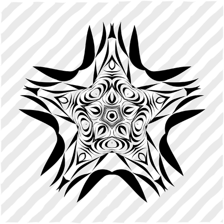 metaphorical: Mandala, circular pattern. A round pattern pattern for your designs. Vector abstract black and white round pattern. Illustration