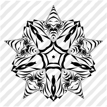 nodules: Mandala, circular pattern. A round pattern pattern for your designs. Vector abstract black and white round pattern. Illustration