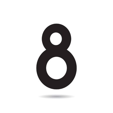 Number eight 8 logo design. Eight icon, eight icon graphic object. Illustration