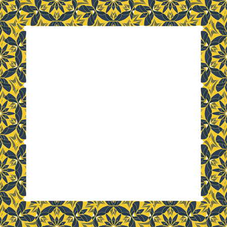 white backing: Square frame. Interesting frame with a white backing for photos or text. The vector image.