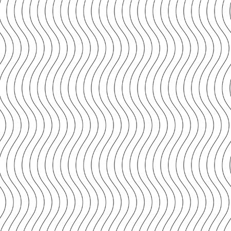 Monochrome élégant seamless en noir et blanc. lignes ondulées verticales.