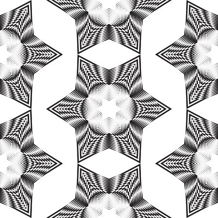 trickery: Decorative items to decorate your work. Vector design elements. Geometric seamless pattern.