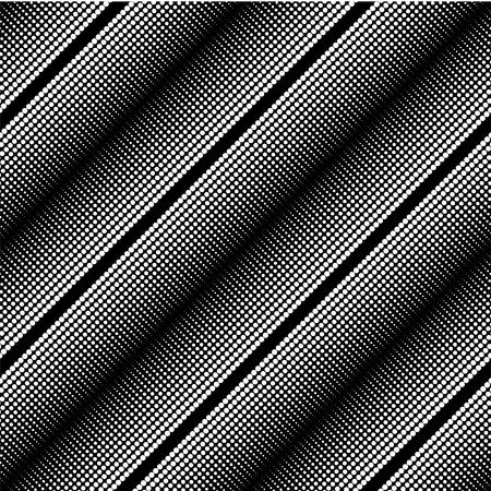 decorative items: Geometric diagonal pattern.  Decorative items to decorate your work. Black and white optical illusion. Monochrome elegant seamless pattern