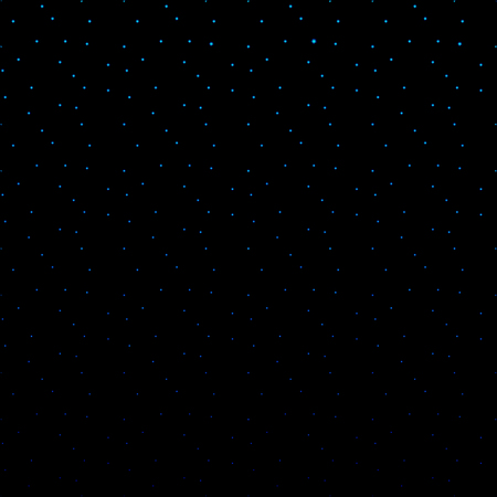 The starry sky. Abstract illustration of colorful glowing blue dots on a black background.