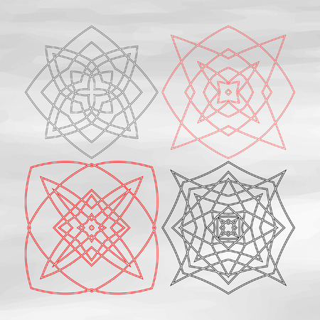 sacral: Seed of life vector, sacred geometry symbol. Vector circular geometric ornament. Sacral pattern. The sacred symbol. Intertwined fine lines.