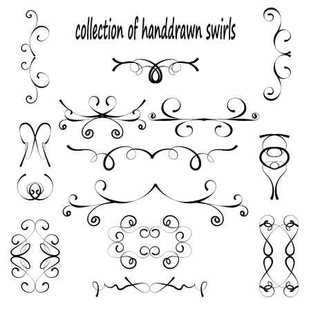 graphic elements: A set of decorative items to decorate your work. Vector design elements. Set of vector graphic elements for design. Text dividers.