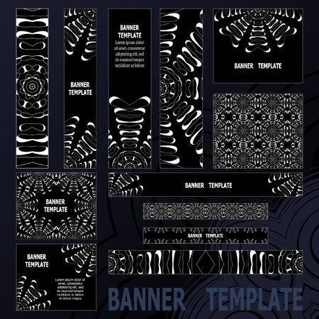 size: Standard size web banners set. Vector Web Banners Illustration