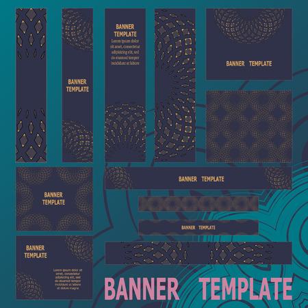 standard size: Standard size web banners set. Vector Web Banners Illustration