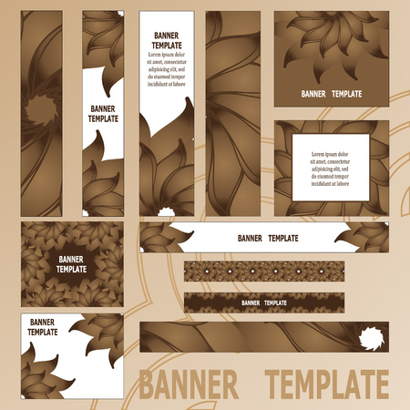 web template: Standard size web banners set. Vector Web Banners. Banner template. Illustration