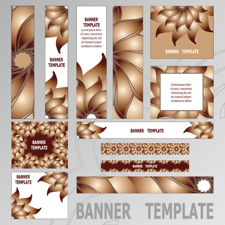 scaled: Vector Web Banners Templates. Standard size web banners collection, all the elements can be scaled to any size without loss of resolution