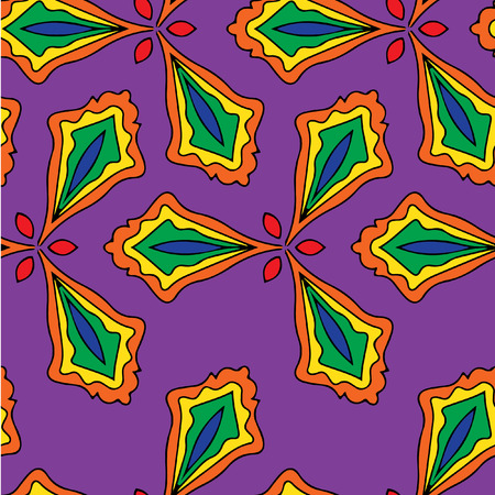 fulvous: A complex vector seamless pattern. To decorate paper, fabric and wallpaper. Illustration