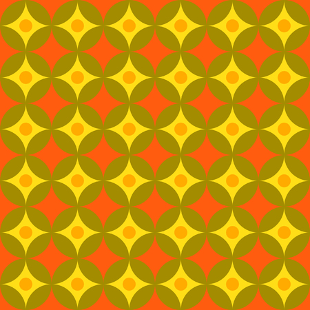 fissure: Seamless vector pattern of intersecting and concentric circles. Stylish vector image to design backgrounds, web pages, greeting cards.