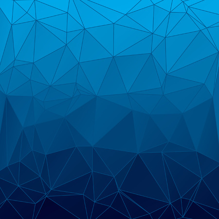 consisting: Triangle vector pattern, cute geometric tile. Abstract blue geometric background consisting of colored triangles and light mesh. Square format. Illustration