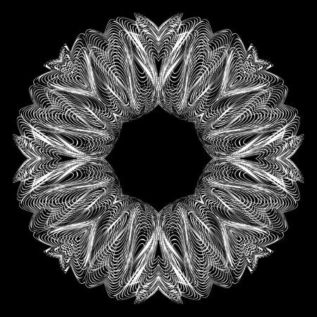 decorative items: Decorative items to decorate your work, design elements. Graphic elements for design. Geometric fashion pattern, mandala.